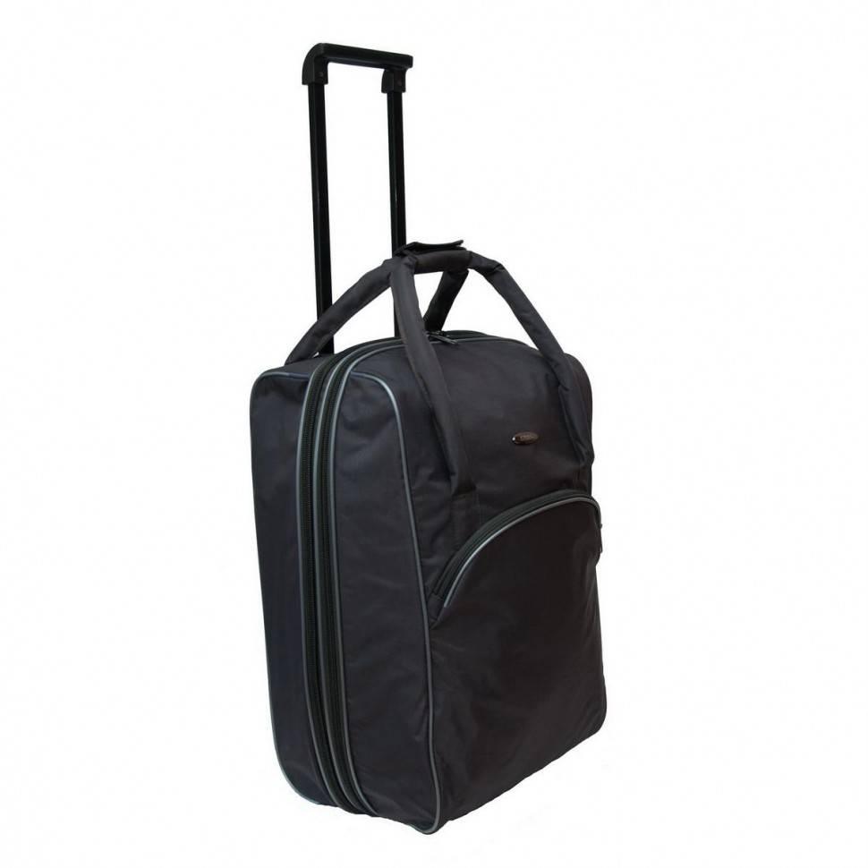 3b73fd3973fb Дорожная сумка (мягкий чемодан) на колесах Akubens АК2050 черная купить по  цене 2 300 руб. в интернет магазине Mister Obnovkin
