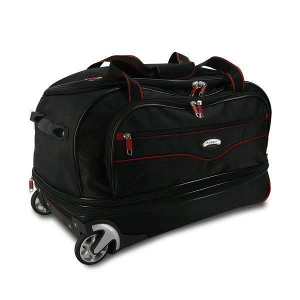 5f5c3f6fbe28 Сумка дорожная на колёсах BESKIN 4200 черная с красным купить по ...