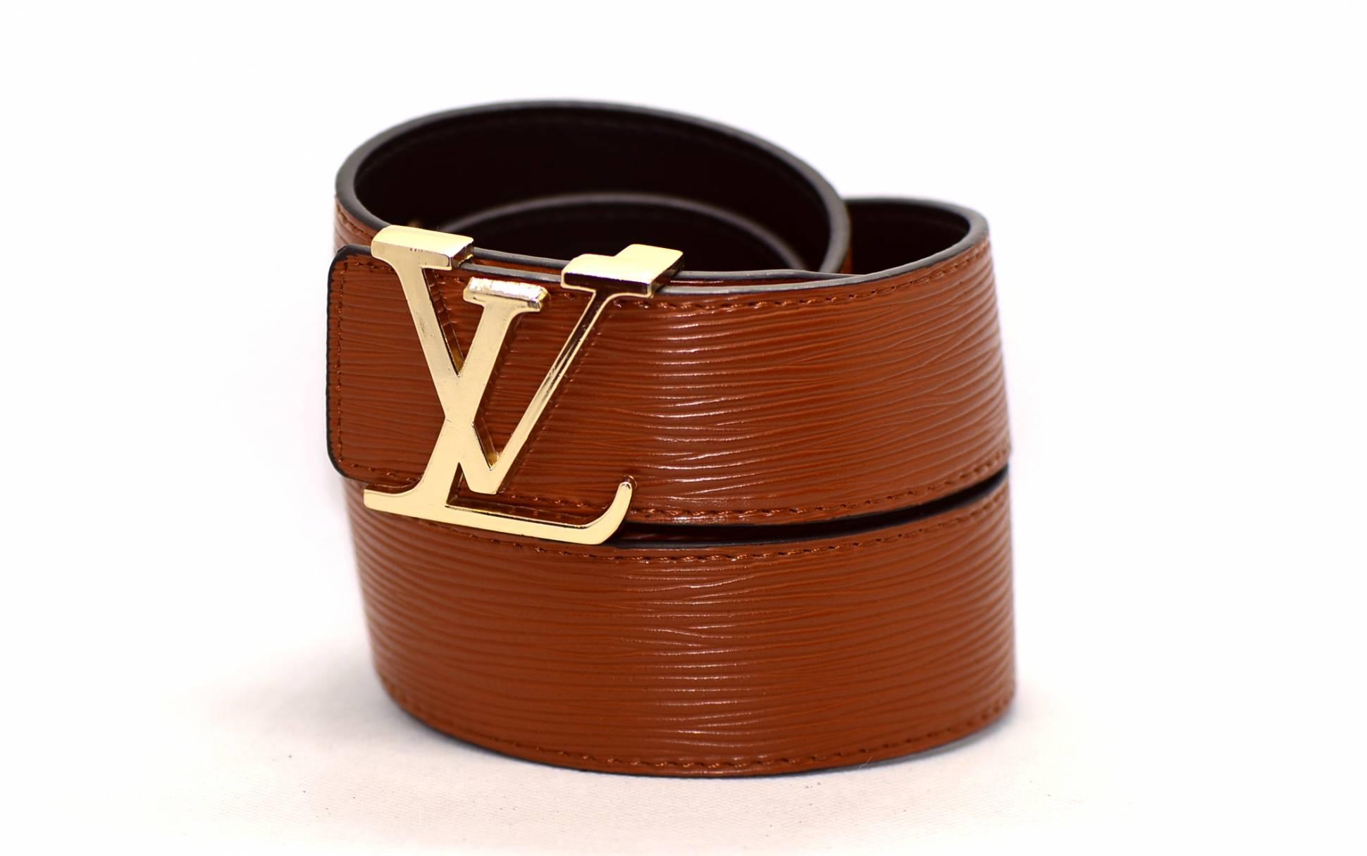 cb20560e67ac Женский ремень Luis Vuitton LV40W102z коричневый купить по цене 1 ...