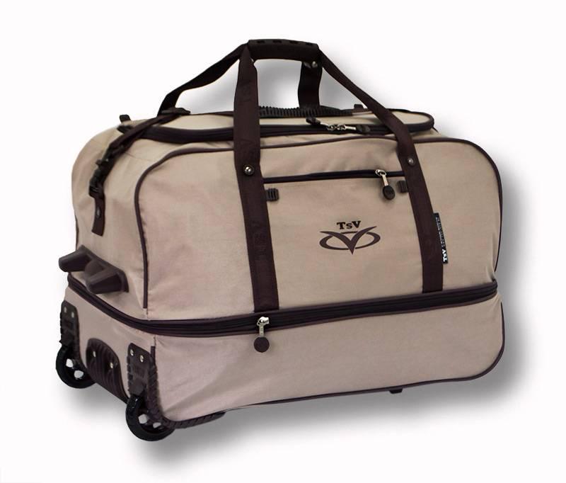 f1f5e9c2d532 Дорожная сумка на колесах TsV 445.20 бежевая купить по цене 3 650 ...