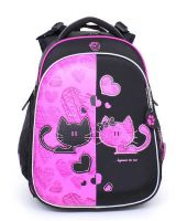 Школьный ранец Hummingbird Teen T82 Love Black and Pink Cats черный