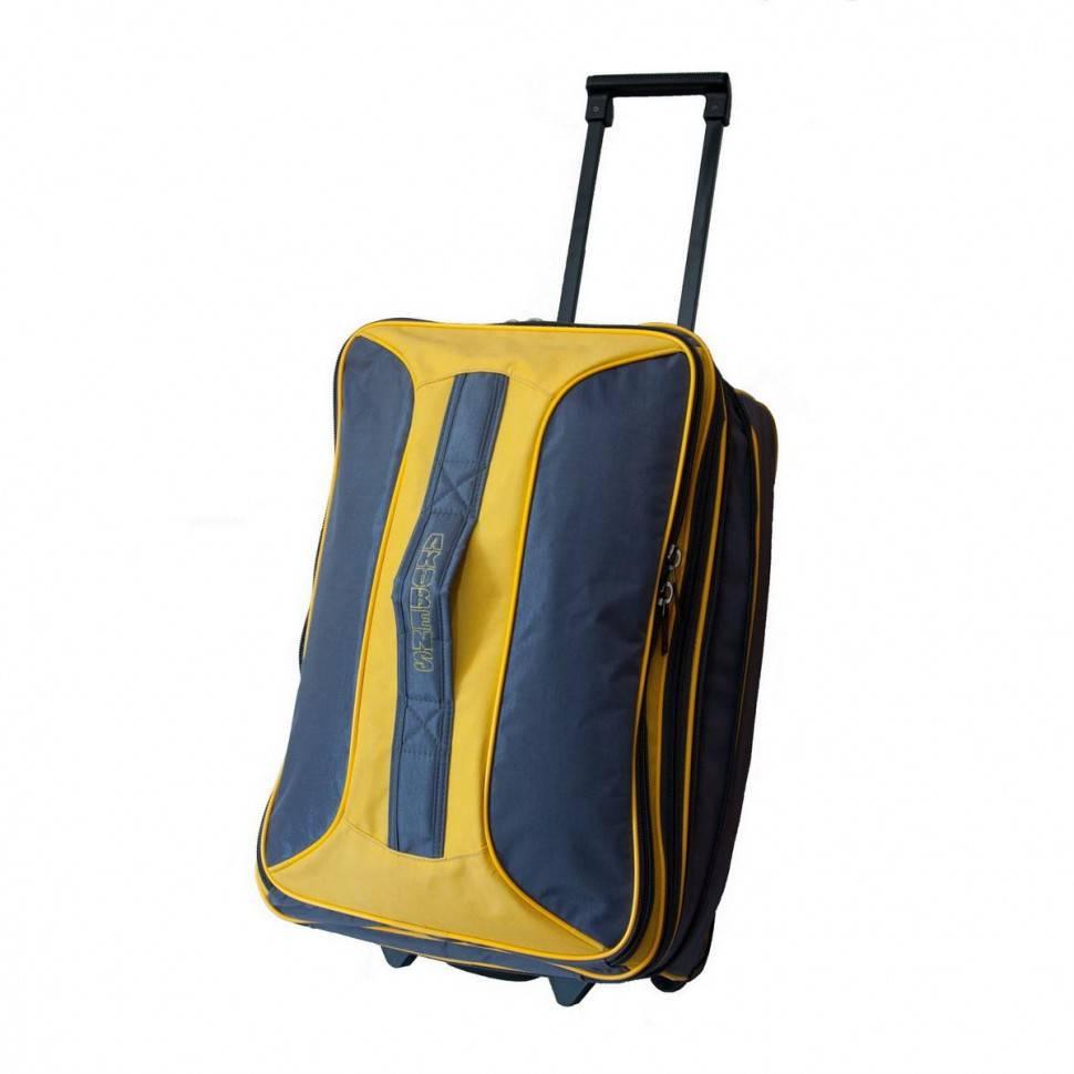 351c4591a82f Дорожная сумка чемодан на колесах Akubens АК2040 серая с желтым ...