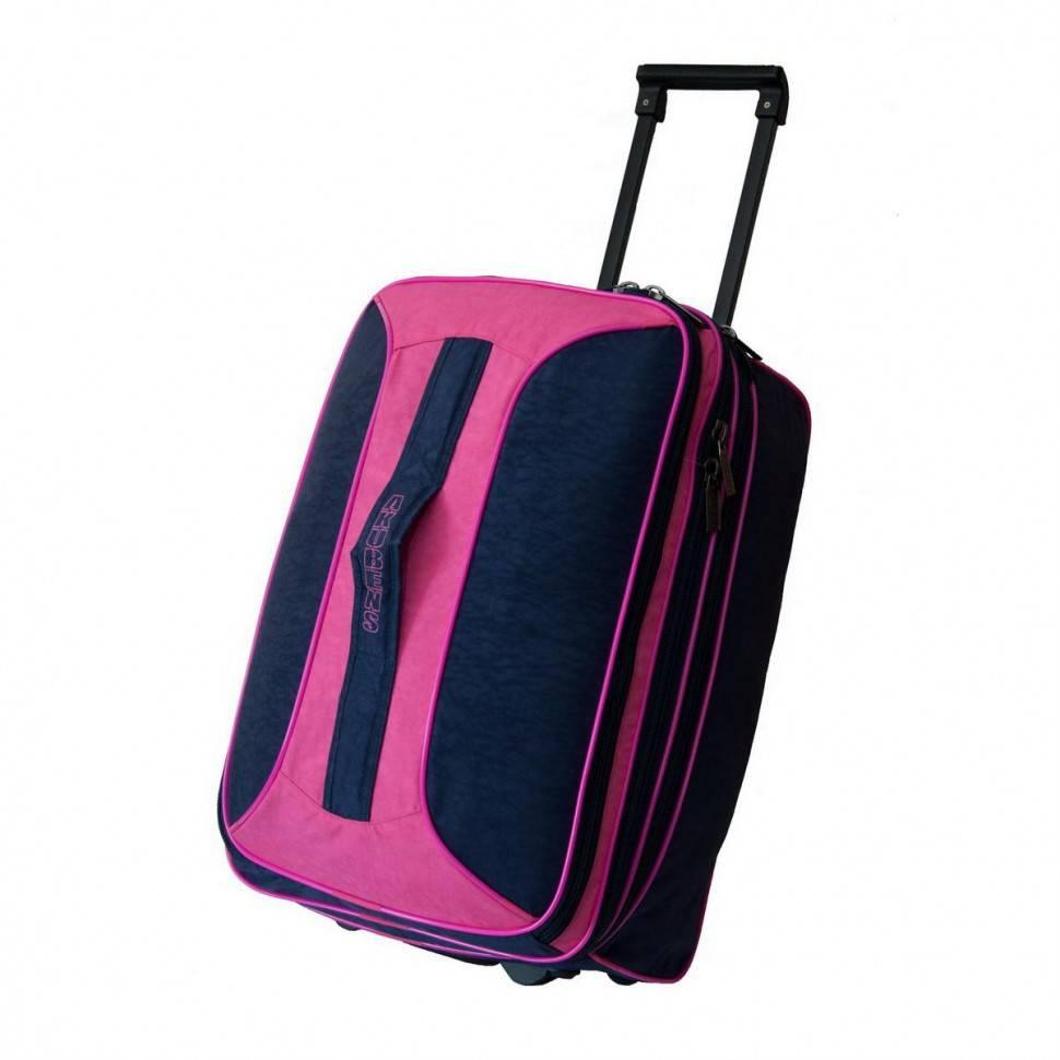3cd329c4119e Дорожная сумка чемодан на колесах Akubens АК2040 фиолетовая с розовым